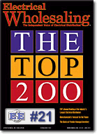 EES moves up to 21st ranked distributor in the nation, according to Electrical Wholesaling
