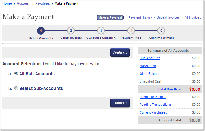How to pay Elliott invoices online