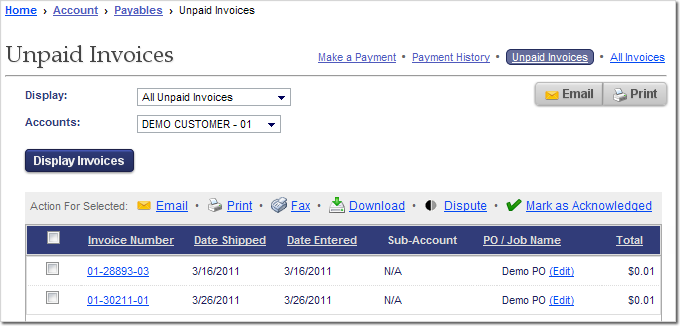 Search, Export, or Pay Your Unpaid Invoices